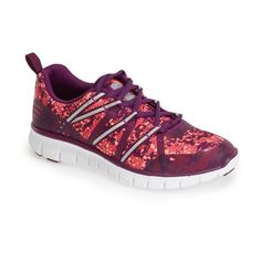 Women's Zella 'Dash' Running Shoe ($89) ❤ liked on Polyvore featuring shoes, athletic shoes, pink neon ocean pebble, lightweight shoes, laced up shoes, neon pink shoes, lightweight running shoes and mesh athletic shoes