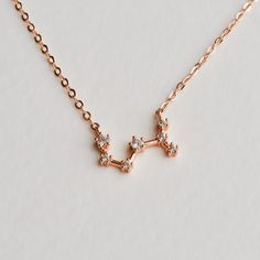 Scorpio Necklace, Constellation Necklace, Crystal Engagement Rings, Nov 21, Zodiac Jewelry, Star Necklace, Brass Chain, Cute Jewelry, Rose Gold Plates