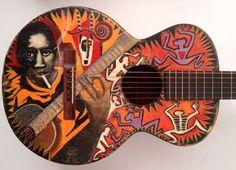 Rare Gibson 1927 Robert Johnson Painted Guitar ~ Awesome!                                     The Legend|Myth of Robert Johnson