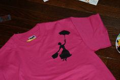 Mary Poppins Stenciled t-shirt for the birthday girl, as party favors &/or for helpers.