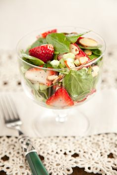 Paula Deen Spinach and Strawberry Salad