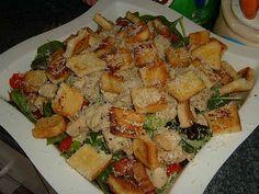 Рецепт салата с семгой креветки сухарики и кальмарами
