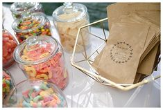 Wedding Candy Table, Sweet Table Wedding, Candy Bar Party, Candy Wedding Favors, Wedding Sweets, Card Box Wedding, Wedding Candy Bars, Wedding Reception, Dessert Bar Wedding
