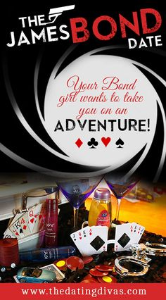 Take your man on an thrilling, intimate adventure with this fun James Bond themed date night. www.TheDatingDivas.com #datenight #JamesBond #creativedates