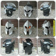"""""""THIS IS SPARTA"""".. Handcrafted King Leonidas Spartan Warrior Helmet Wood burner.. Handcrafted by Scottish Recycling Artist, Barry wood... All pieces are redundant gas bottles.."""
