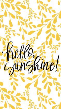 Hello sunshine background/wallpaper