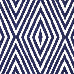 John Robshaw Textiles - Khiva Indigo - Blockprinted Linens - Fabric
