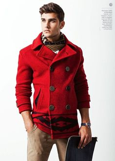 Men Red Coat