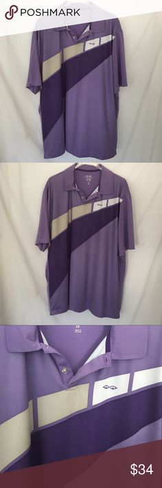 "Snake Eyes Purple Golf Polo SHirt Excellent used condition Bust 26"" Length 34"" Snake Eyes Tops"