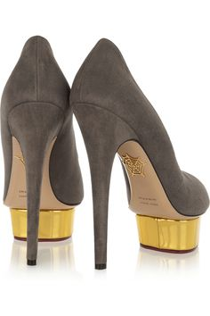 Charlotte Olympia|Daphne suede pumps