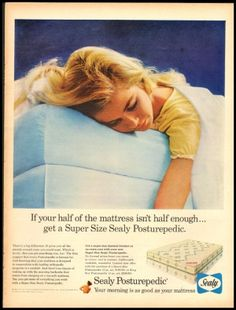 Vintage 1958 Sealy Ad #sealy #sleep #beds #mattresses