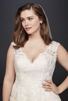 strapless sweetheart tulle plus size wedding dress - davids bridal