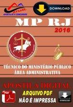 Apostila Digital Concurso MP RJ Tecnico do Ministerio Publico Area Administrativa 2016