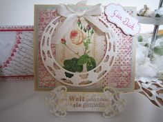 A creative place for Cards, Dies and Paperdesign: nostalgische Rose Karte