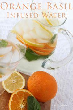 Orange Basil Infused Water - girl. Inspired.