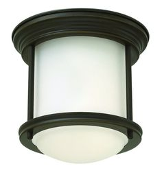 Hinkley Lighting 3300-GU24 1 Light Title 24 Fluorescent Flush Mount Ceiling Fixt Oil Rubbed Bronze Indoor Lighting Ceiling Fixtures Flush Mount