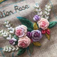 Embroidery On Clothes, Hand Work Embroidery, Crewel Embroidery, Machine Embroidery, Thread Work, Work Inspiration, Handmade Flowers, Crochet Clothes, Handicraft