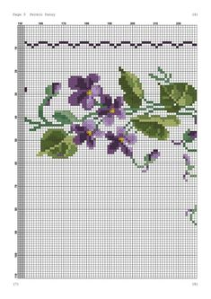 Handicraft, Table Runners, Embroidery Stitches, Le Point, Cross Stitch Patterns, Bath Linens, Cross Stitch Embroidery, Violets, Crosses