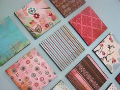 Ugly Dollar Store canvases, fabric scraps or deco paper, Mod Podge. - Diy Home Decor Dollar Store Simple Wall Art, Cool Wall Art, Diy Wall Art, Easy Wall, Diy Artwork, Dollar Store Crafts, Dollar Stores, Diy Home Decor For Apartments, Diy Shows