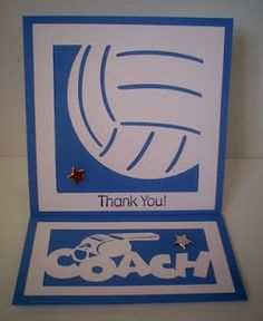 Carol's Creations: Thank You Volleyball Coach card