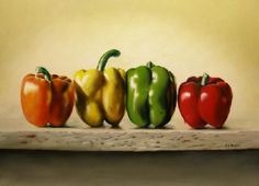 Paint a peck of peppers that will surprize you. How to paint peppers the easy way!