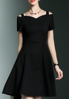Available Sizes :S;M;L;XL;XXL Bust(cm) :S:82cm; M:86cm; L:90cm; XL:94cm; XXL:98cm Waist(cm) :S:66cm; M:70cm; L:74cm; XL:78cm; XXL:82cm Length(cm) :S:91cm; M:92cm; L:93cm; XL:94cm; XXL:95cm Sleeve Length(cm) :S:18cm; M:18.5cm; L:19cm; XL:19.5cm; XXL:20cm Type :Slim Material :Cotton Color :Black Decoration :Draped, Hollow-out Pattern :Plain Collar :Collarless Length Style :Above Knee Sleeve Length :Short Sleeve