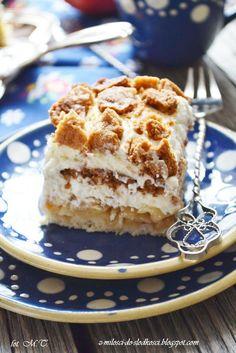 Kruche ciasto z jabłkami i ze śmietaną według Siostry Anastazji