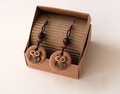 orecchini #handmade #gufetto di LaBottegadimarika su Etsy
