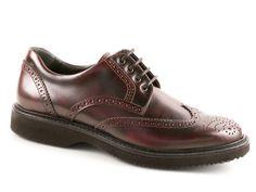 Hogan men's burgundy Leather derby brogues shoes - Italian Boutique €209
