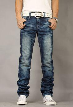 63774e4fba87 Men Leisure Washing Fashionable Slim Jeans XS/S/M/L/XL/XXL/XXXL @S5-1403-1