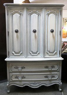 40''x19''x62.2'' Two door, two drawer pale blue cabinet. $395 | by WeloveLeftovers*