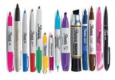 Sharpie! All different sizes.