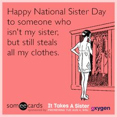 Better than shopping. Don't miss It Takes a Sister premiering Tuesday at 9/8c on Oxygen. #NationalSisterDay
