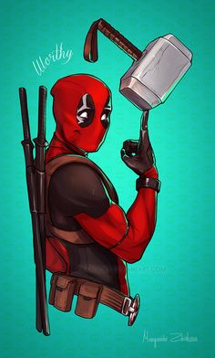 #Deadpool #Fan #Art. (Worthy) By: RibkaDory. (THE * 5 * STÅR * ÅWARD * OF: * AW YEAH, IT'S MAJOR ÅWESOMENESS!!!™) [THANK U 4 PINNING!!!<·><]<©>