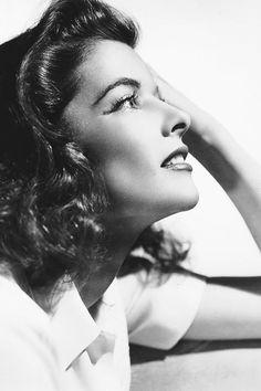 "Katharine Hepburn photographed for ""The Philadelphia Story"", 1940."