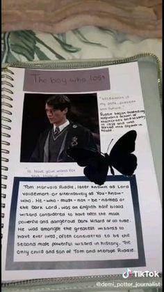 Harry Potter Gif, Harry Potter Diary, Harry Potter Notebook, Harry Potter Scrapbook, Harry Potter Journal, Estilo Harry Potter, Harry Potter Universal, Bullet Journal Lettering Ideas, Bullet Journal Books