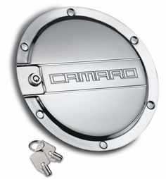 Camaro Locking Fuel Door - Black, Chrome or Brushed Aluminum