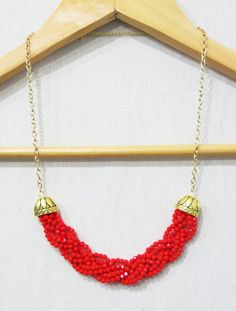 Hey, I found this really awesome Etsy listing at https://www.etsy.com/listing/185058840/the-plait-statement-necklace