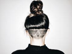 🔺 Undercut Long Hair, Undercut Hairstyles, Cool Hairstyles, Updo Hairstyle, Wedding Hairstyles, Hair Tattoo Designs, Undercut Hair Designs, Shaved Hair Designs, Hair Patterns