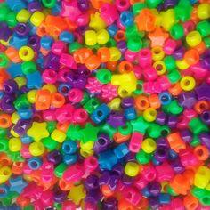 Neon Pony Beads Mixed Pony Beads Shaped Beads Opaque Beads Multi Color Beads New #PonyBeadsbyBeadBee
