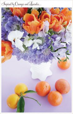 orange and lavender...who would have guessed how well they compliment each other.
