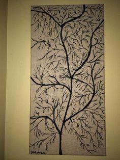 Paint on Burlap Canvas