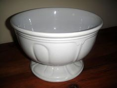 1840's Solid White Ironstone Pedestal Bowl by Jacob Furnival #JacobFurnival