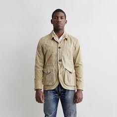 Filson guide work jacket soy wax tan