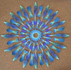 Blue flower mandala by Kathy Klein