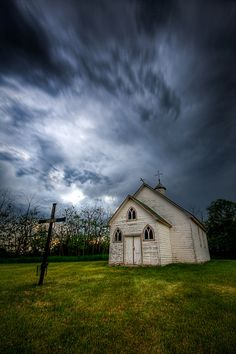 Crooked Cross (A rural church just north of Canora, Saskatchewan) by Kevin Baluk via Flickr