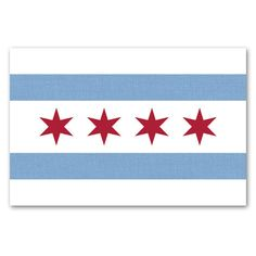 Chicago Flag Decal Sticker
