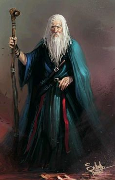 wizard - #fantasy #art (Artist unknown. If you know who painted this, please let me know so I can attribute the picture)