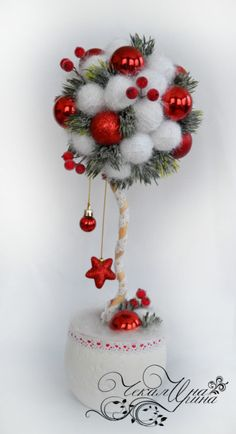 Christmas Advent Wreath, Christmas Topiary, Christmas Centerpieces, Xmas Decorations, Christmas Deals, Christmas Items, Handmade Christmas, Christmas Fun, Felt Crafts