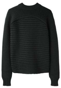 Alexander Wang / Mixed Rib Pullover not the pattern itself (too horizontal) but the idea of changing patterns (not in a way that's too disruptive)